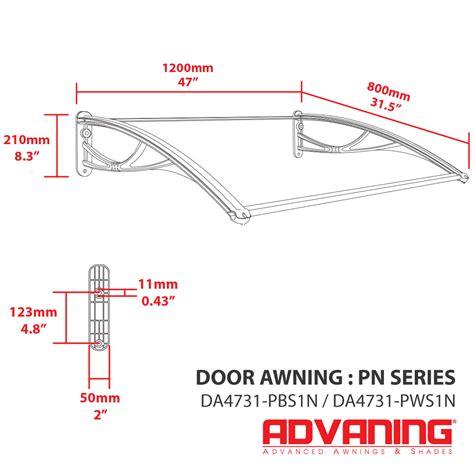 door polycarbonate awning pn series