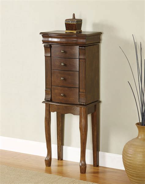 Louis Philippe Jewelry Armoire (walnut) [741319