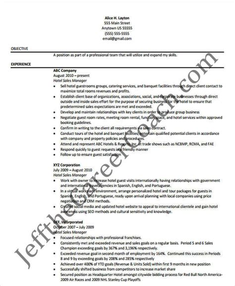 Hotel Operations Resume Sles by 45 Manager Resume Sles
