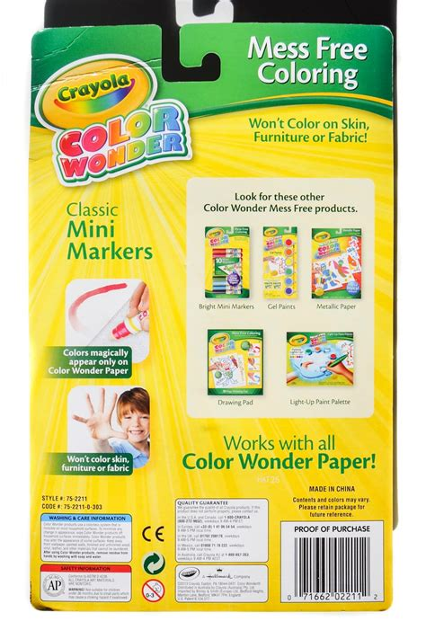 10 Count Crayola Color Wonder Markers: What's Inside the