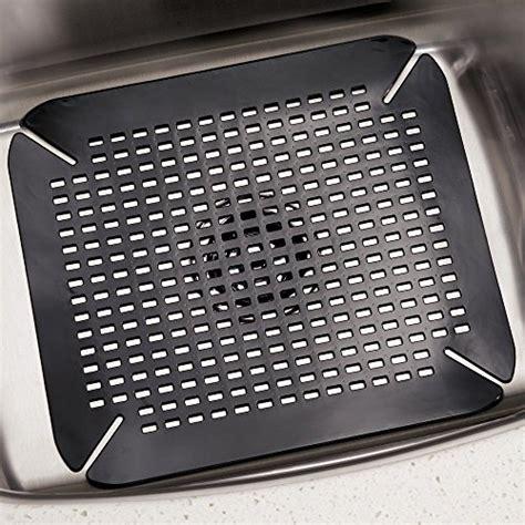 Sink Protector Mat Black by Interdesign Contour Kitchen Sink Protector Mat Black