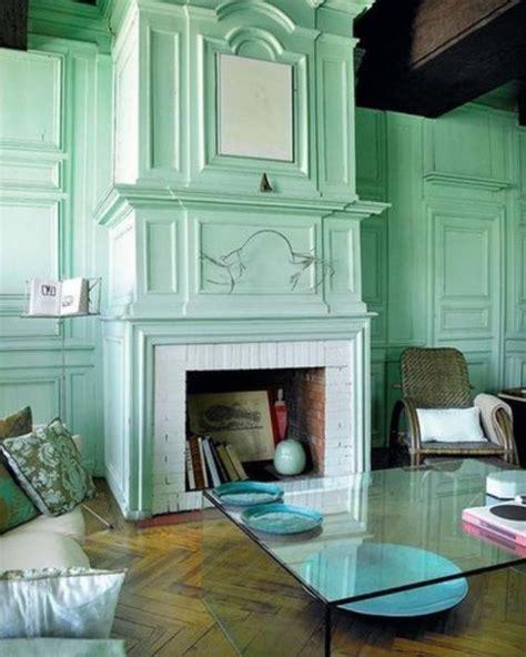 lovely peach  mint interior designs