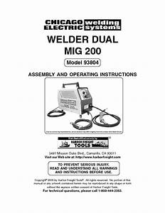 Chicago Electric 90 Amp Mig Welder Wiring Diagram