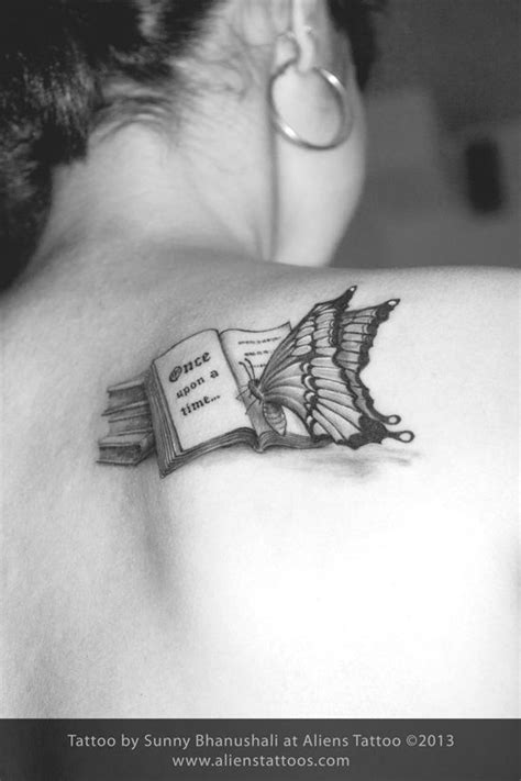 Butterfly reading Book Tattoo, Inked by Sunny at Aliens
