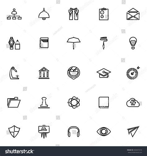15016 resume icon white resume line icons on white stock vector 369437210