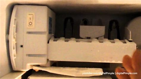 ge refrigerator ice maker  making ice easy fix  repair diy youtube