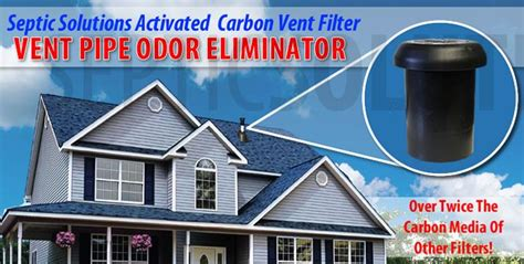 carbon refill vent stack odor filters eliminate septic