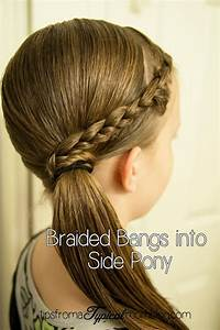 Tween Hair Do39s Braided Bangs Into A Side Pony Tail