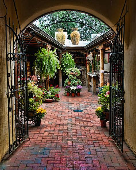 santa fe photograph into the courtyard travel
