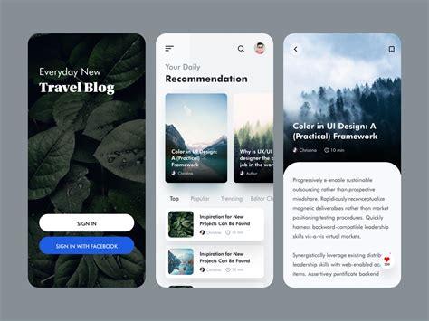 Travel Blog App Ui Design - UpLabs