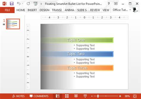 Microsoft Office Smartart Templates by Floating Smartart Bullet List For Powerpoint