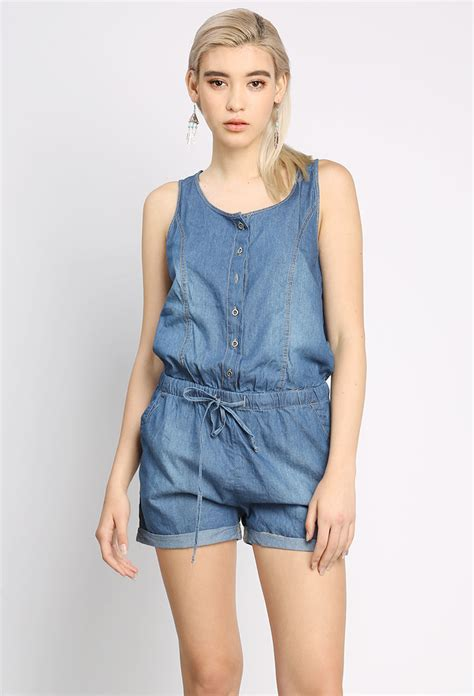 Sleeveless Denim Romper | Shop Romper at Papaya Clothing