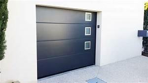 porte de garage sectionnelle verticale a refoulement With tryba porte de garage