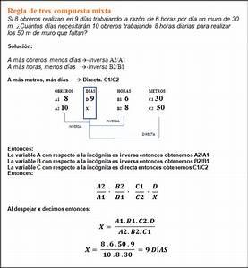 PROBLEMAS DE MATEMÁTICAS RESUELTOS : Regla de tres