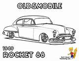 Coloring Pages Muscle Cars Rod Oldsmobile Rocket American 1949 Brawny Rat Gto Print Pontiac Yescoloring Boys Sheets Ford Printables Printable sketch template