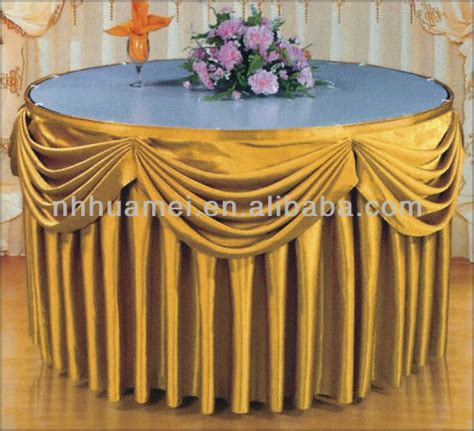 table cloth skirting design new style hotel table skirt designs buy table skirting