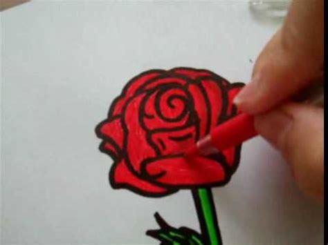draw  rose  paper  randomrainbow youtube