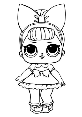 fancy glitter lol surprise doll coloring page kates