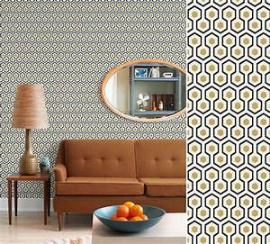 Papier Peint Vintage Hick39s Hexagon Salon Pinterest