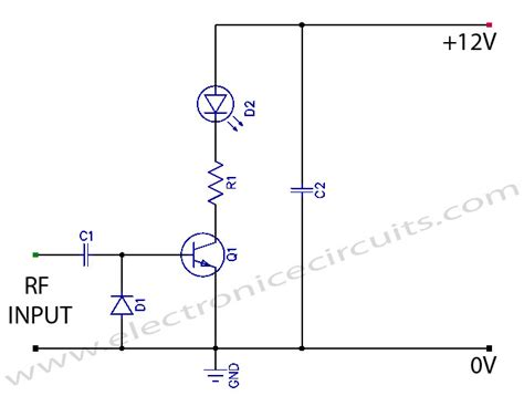 Vcr Antenna Switch Circuit Diagram by Transmitter Rf Output Led Indicator Circuit Diagram