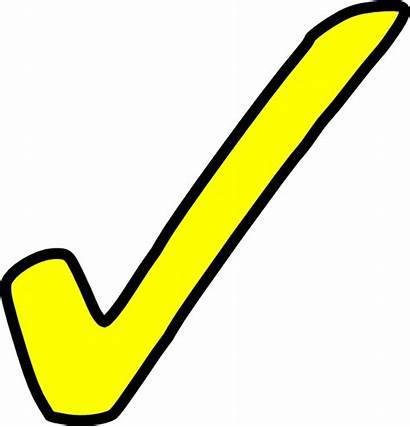 Tick Yellow Symbol Bright Clip Clipart Check