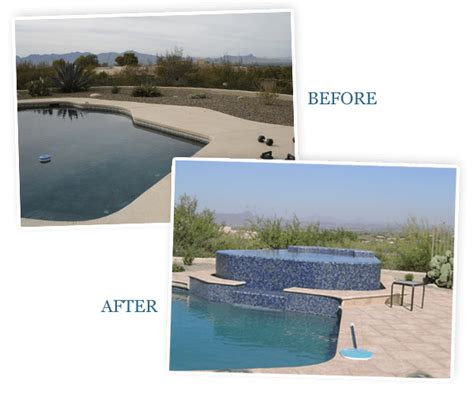 pool before and after pool renovation pool repair