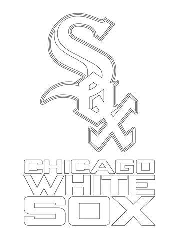chicago white sox logo coloring page art pinterest