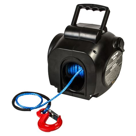 Boat Winch by I Max 12v 3500lbs Portable Electric Synthetic Boat Winch