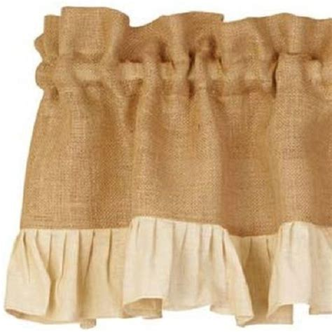country kitchen valance country primitive ruffled burlap valance rustic 2921
