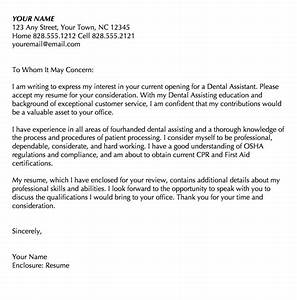 registered dental assistant cover letter resume writing With dental assisting cover letters