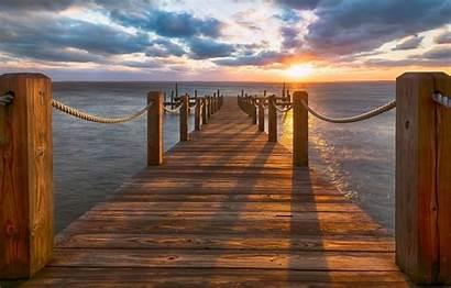Outer Banks Wallpapers Pierce Atlantic Carolina Sunset