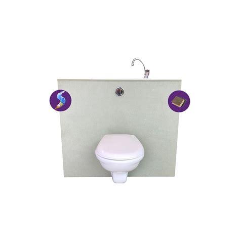 wici pack wc suspendu geberit avec lave mains pas