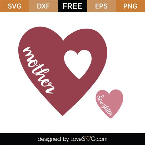 Download the svg file and upload to cricut design space. Free Mother Daughter Heart SVG Cut File | Lovesvg.com