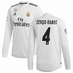 Fanatics Nhl Jersey Size Chart Sergio Ramos Real Madrid Adidas 2018 19 Home Authentic