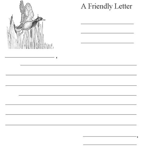 friendly letter template informal letter format sle to a friend edit fill 8842