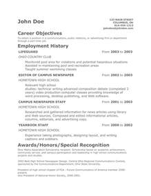 resumes for teens student resume template