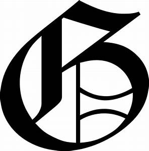 Old English Letter G Initial Decal 9 75 U0026quot  Choose Color