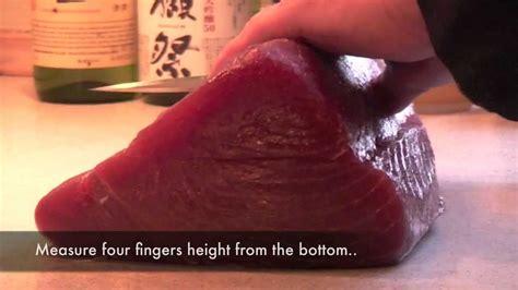 How To Cut A Yellow Fin Tuna Loin  Youtube