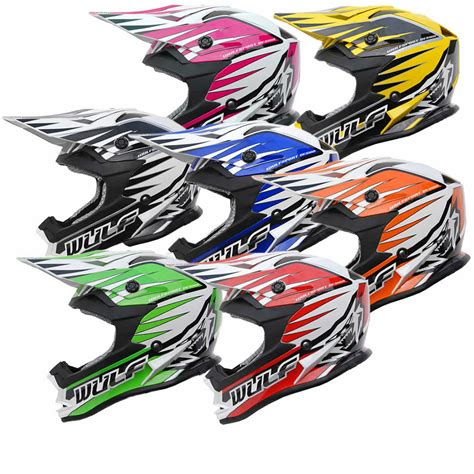 wulf motocross wulf cub advance motocross helmet junior helmets