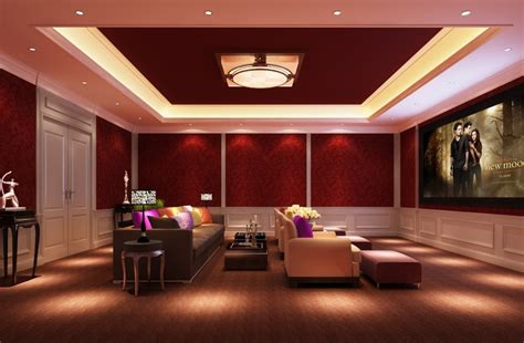 Home Lighting : Home Theater Pictures, Best Color For Theater Room Home