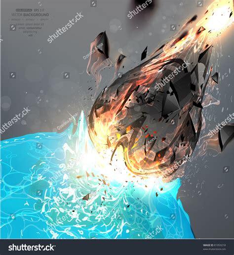 Apocalypse 2012. Fall Of A Meteorite On Earth. Stock ...