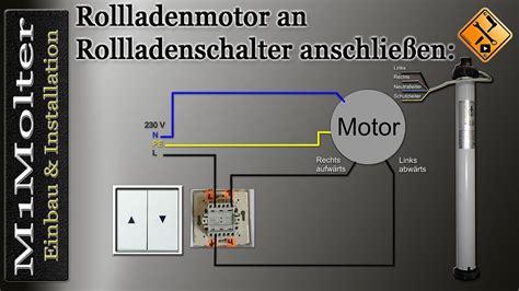 zwei rolladenmotoren ein schalter schalter an rollladenmotor anschlie 223 en m1molter