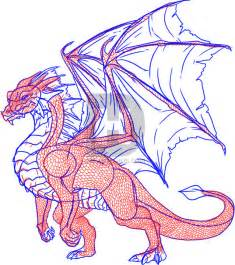 Steps How to Draw a Dragons Body
