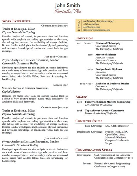 Resume 1 Page by Two Column One Page Cv Resume Template Office Resume