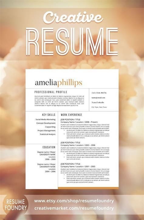 17 best images about resume templates etsy on