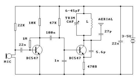 Simple Transmitter Electronic Circuits Diagram