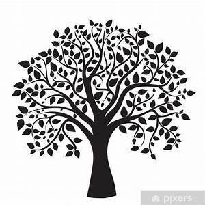 Stickers Arbre Noir : sticker silhouette d 39 arbre noir isol sur fond blanc pixers nous vivons pour changer ~ Teatrodelosmanantiales.com Idées de Décoration