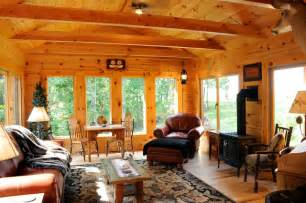 Rustic Family Room Sunrooms