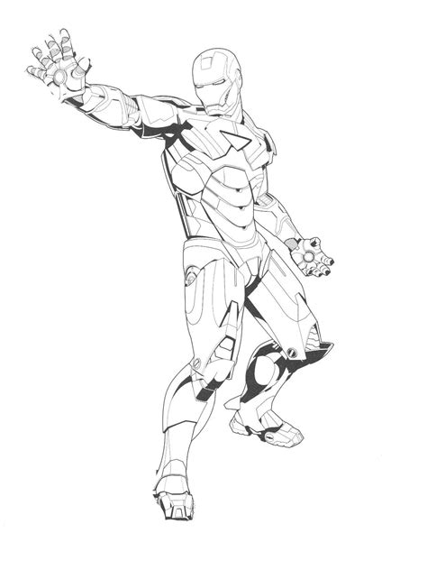 tony stark coloring page printable coloring pages