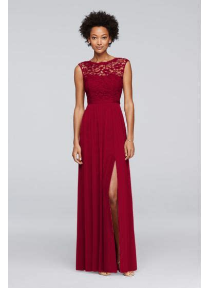 davids bridal bridesmaid dress colors bridesmaid dress with lace bodice david s bridal